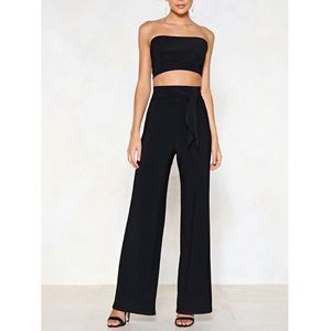 Nasty Gal Tie Me Later Bandeau Top Size 6 NWT